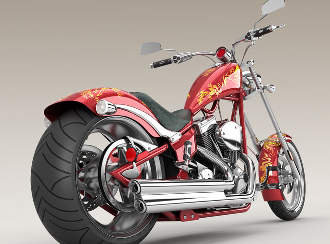Big Dog K9 Chopper Motorcycle3D model