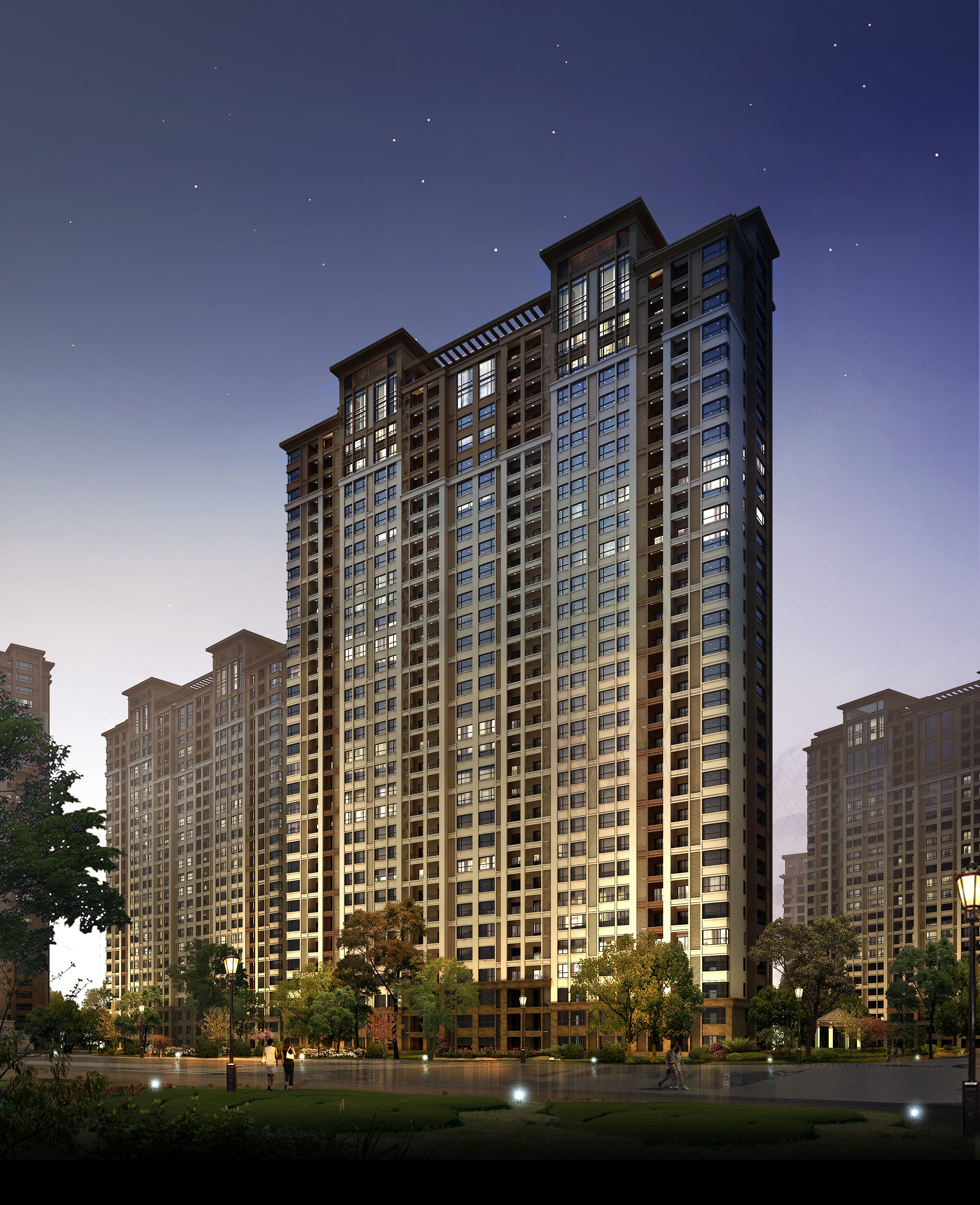 Condominium: Modern Condominium By The Park 3D Model MAX