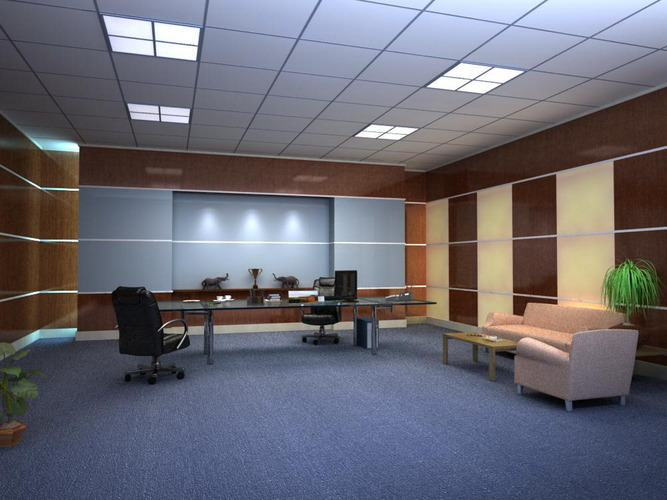 Fully carpeted office space with sofas 3d model max - Sofas small spaces model ...