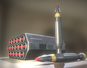 3D asset Anti Air Rocket Battery