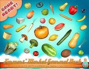 Farmers Market Gourmet Pack 3D asset