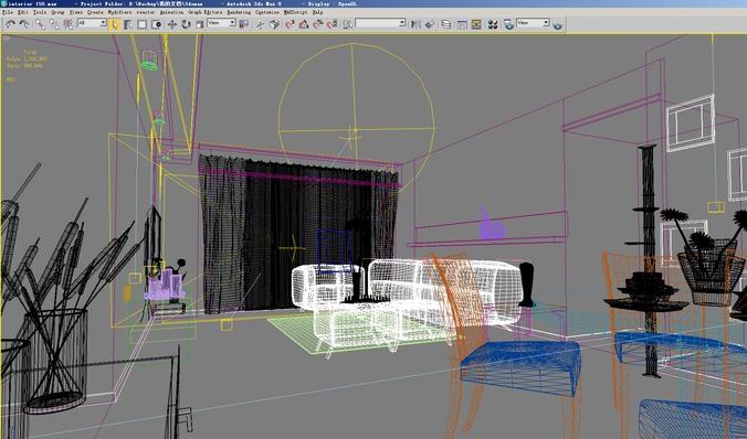 Posh Attic Bedroom3D model