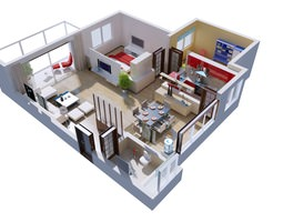 Posh House Interior 3D