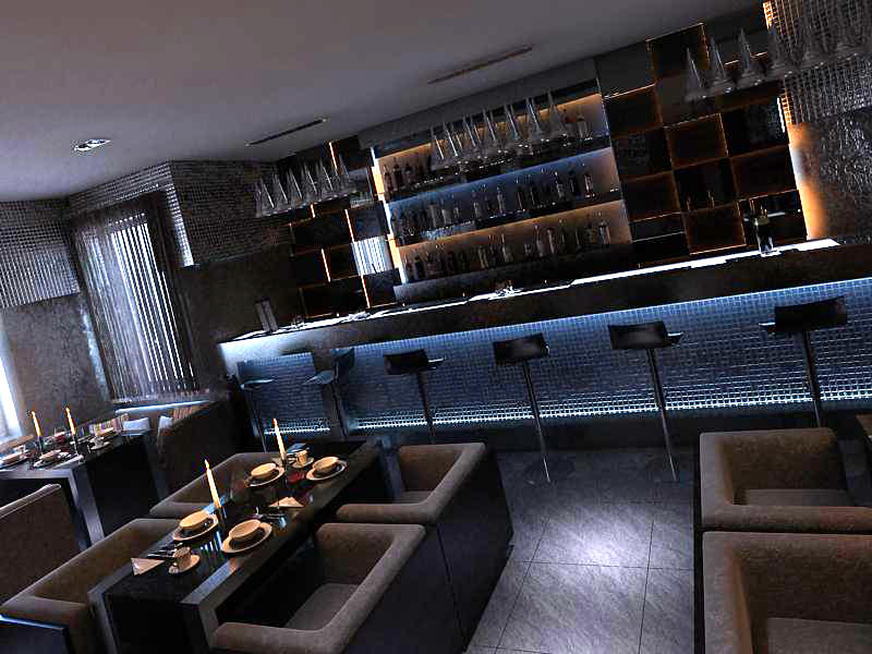 ... bar with exquisite decoration 3d model bar 101 3d models detailed bar