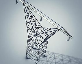 Electricity Tower 3D asset