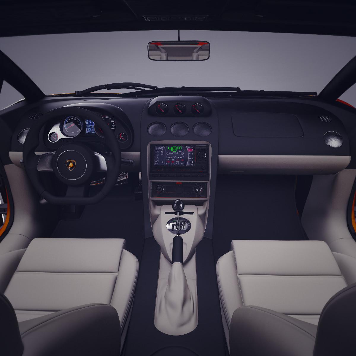 ... Lamborghini Gallardo With Interior 3d Model Max Obj Fbx Lwo Lw Lws Ma  Mb 8 ...
