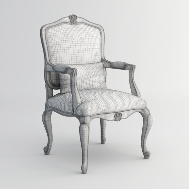 ... Louis Xv Chair 3d Model 3d Model Max Fbx 5