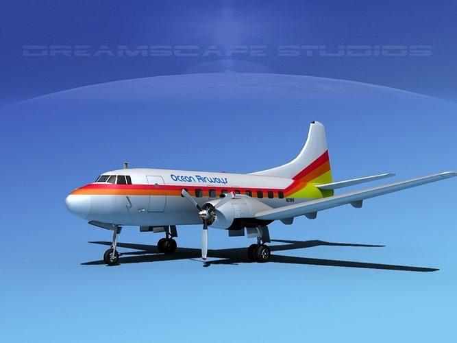 martin 202 ocean airways 3d model max obj mtl 3ds lwo lw lws dxf stl 1