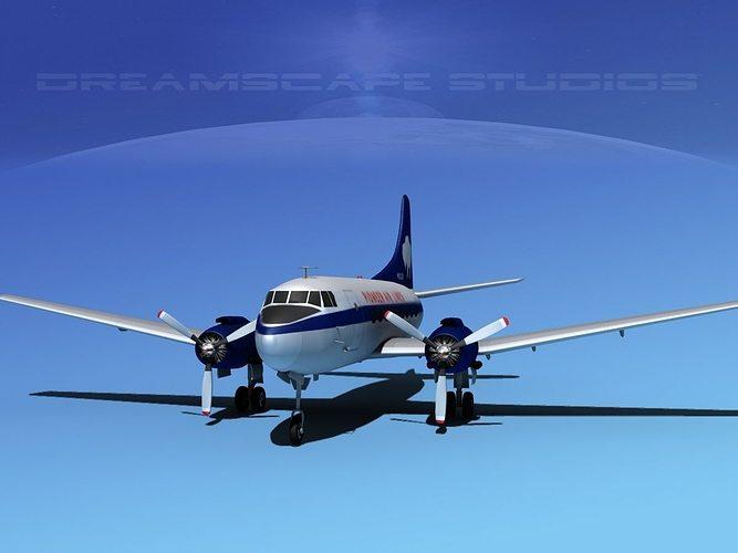 martin 202 pioneer airlines 3d model max obj mtl 3ds lwo lw lws dxf stl 1