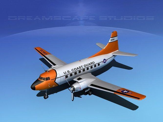 martin 202 us coast guard 1 3d model max obj mtl 3ds lwo lw lws dxf stl 1