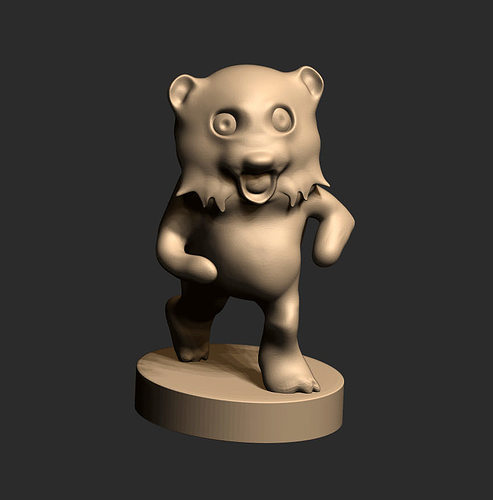 3d printable model pedobear cgtrader 3d printer models free