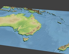 3D Australia surface high poly