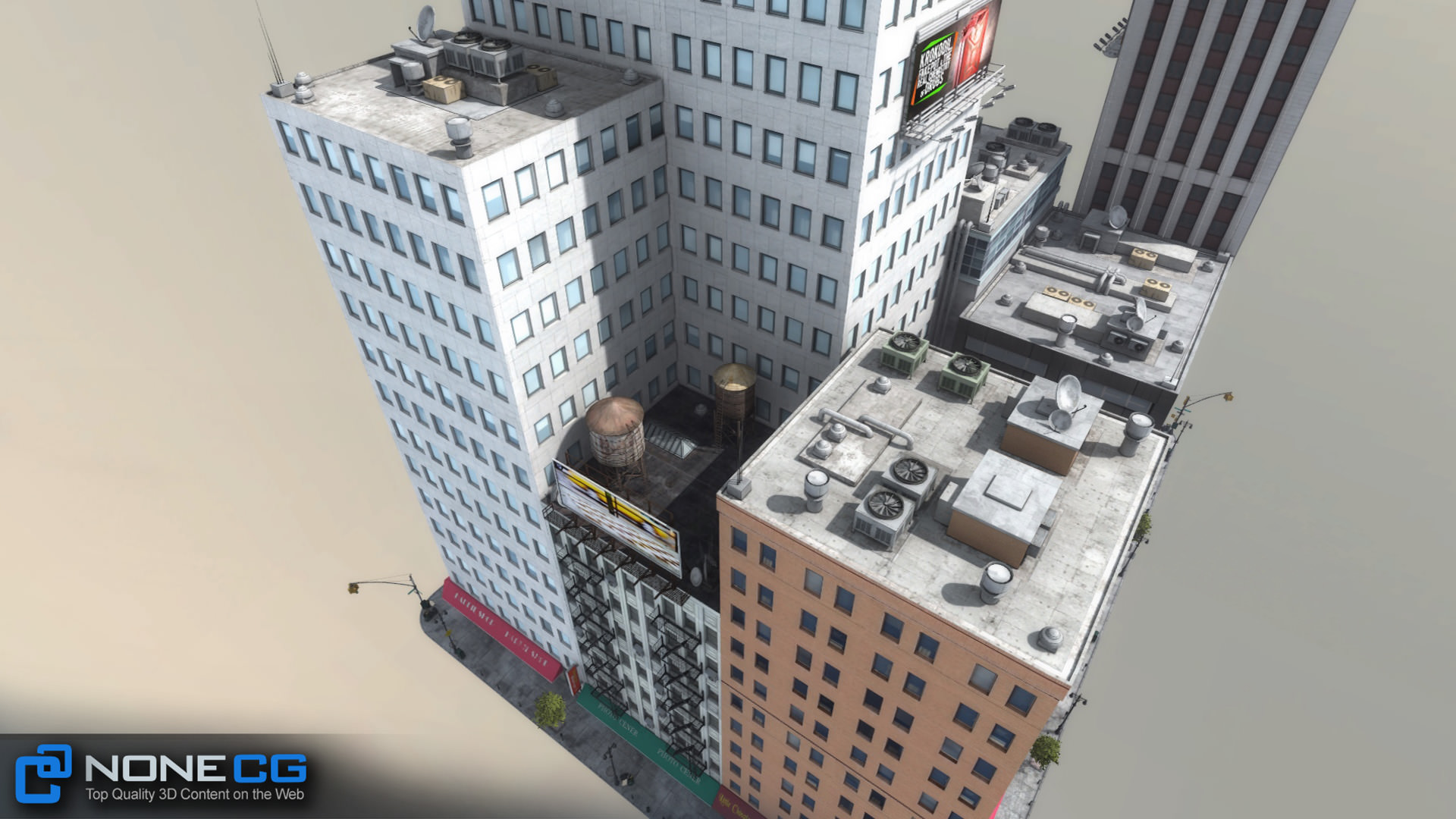 NYC Block 1 Unity 3D Model Game ready - CGTrader.com