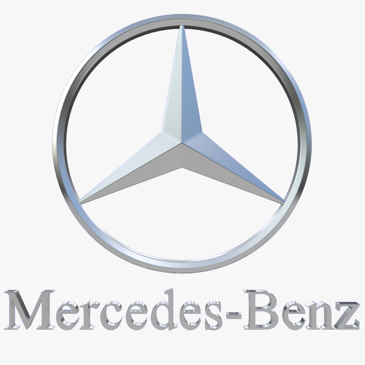 mercedes benz logo 3d model max obj 3ds fbx dxf stl