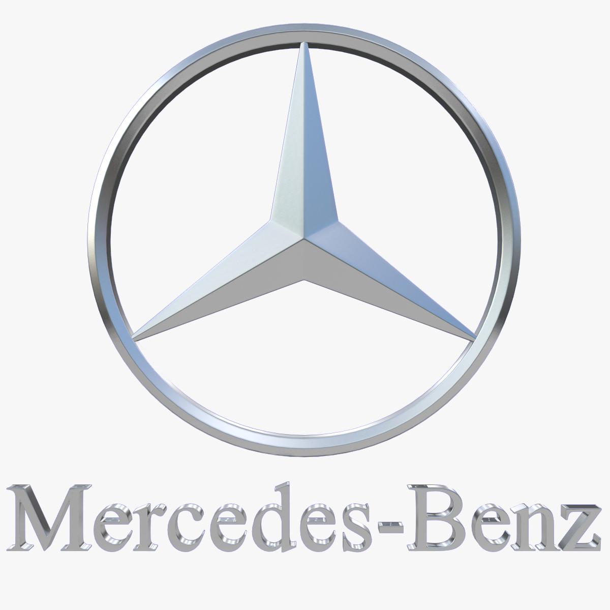 Mercedes Benz Logo 3d Model Max Obj 3ds Fbx Dxf Stl