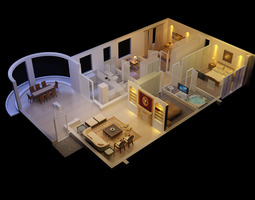 3D Luxurious House with Designer Interior