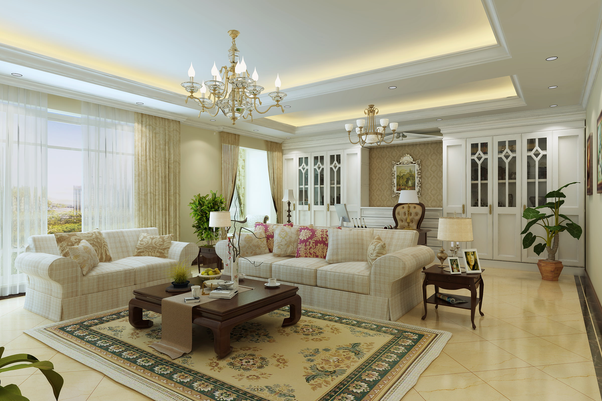 Living room with carpet and designer wall 3d model max for 3d living room planner