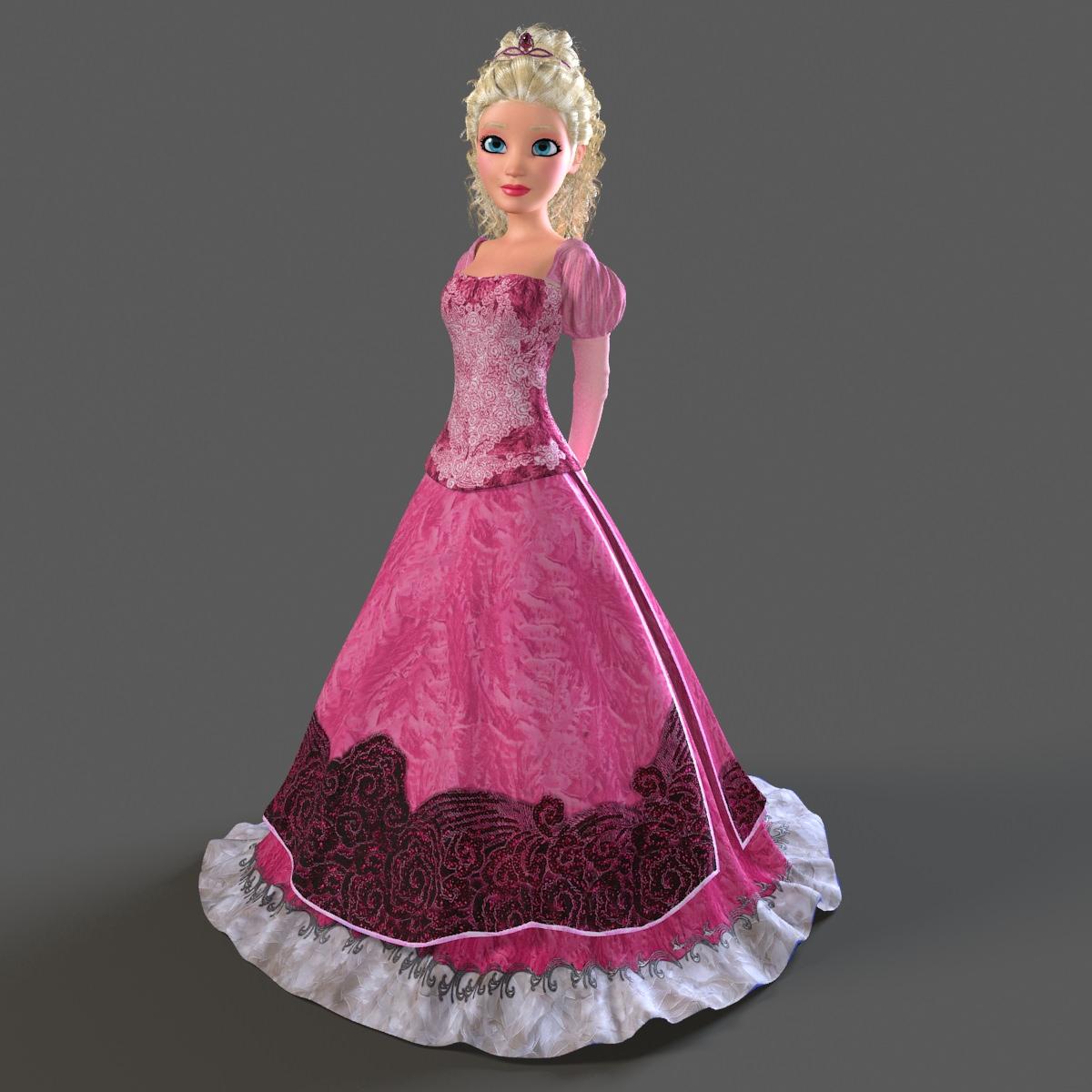 princess bella mray rigged character 3d models   cgtrader