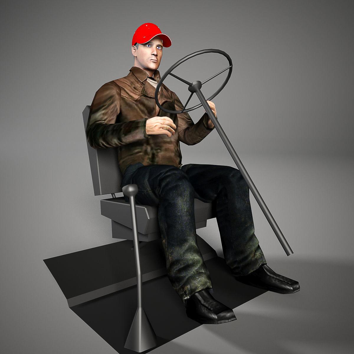 3D Driver man