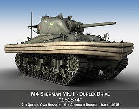 3D M4 Sherman MK III - Duplex Drive