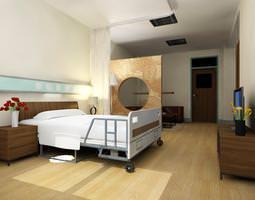 Posh Hospital Cabin 3D Model