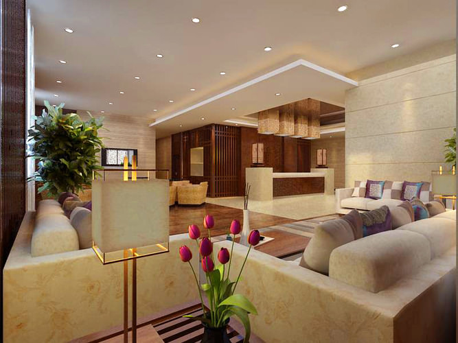 Aristocratic Lobby with Reception3D model