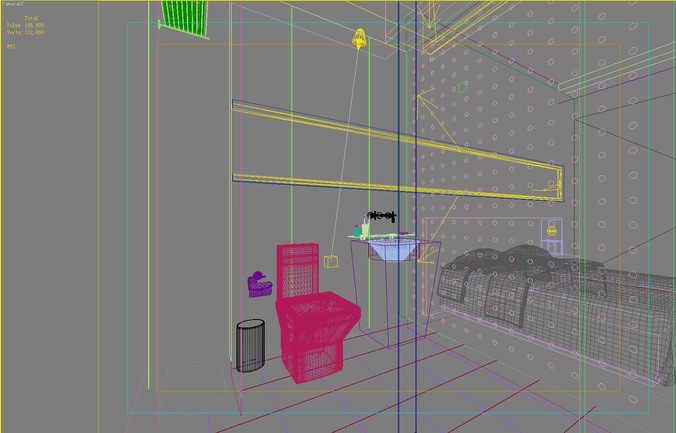 Bathroom 3d Model 3d fancy guest room with attached bathroom | cgtrader