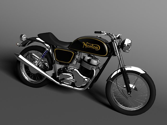 norton commando 850 3d model max obj mtl 3ds c4d tga 1