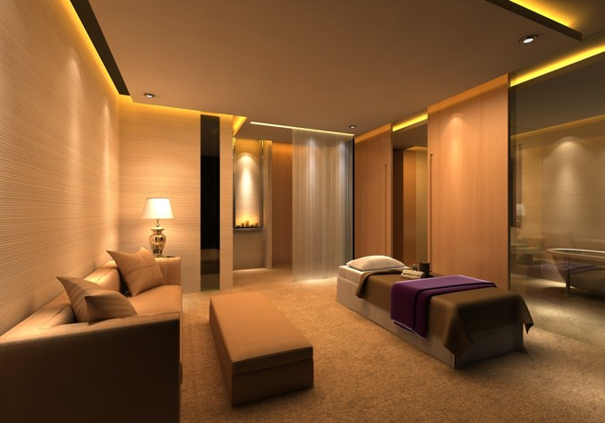 exquisite spa room 3d model max 1