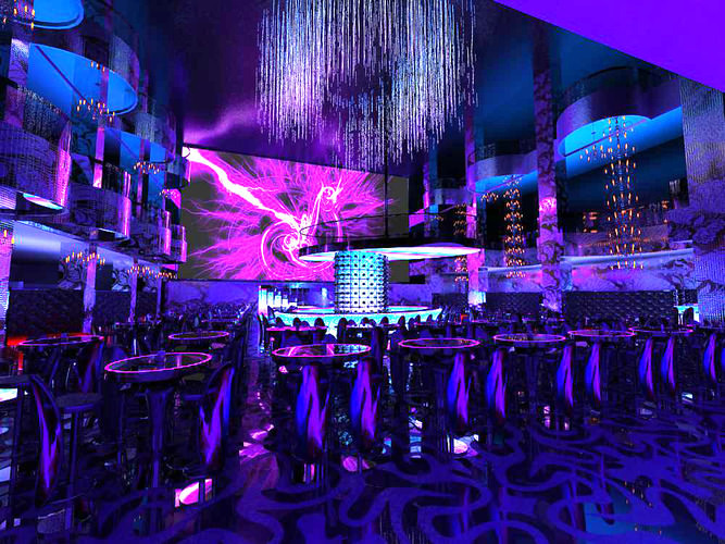 Space for Bar and Dance Floor3D model