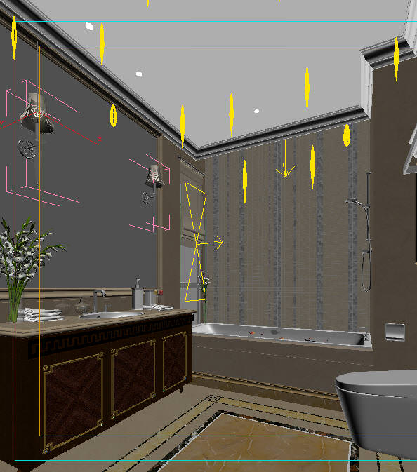 Modern design bathroom 3d model max for New model bathroom design