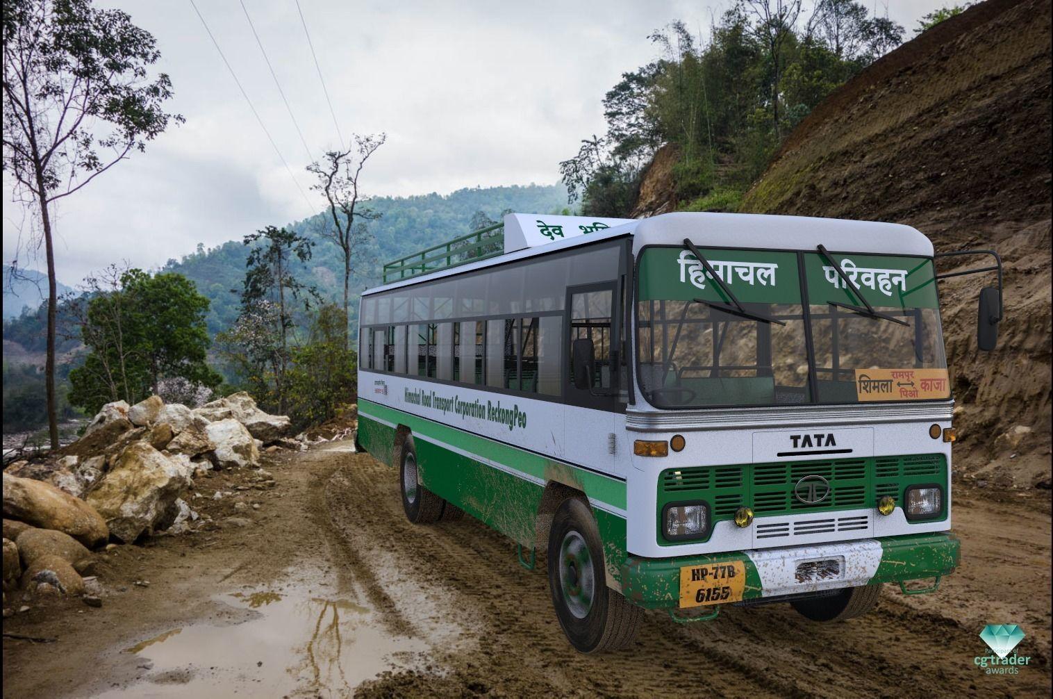 Indian TATA 1612 Bus - Participant of CGTrader Awards