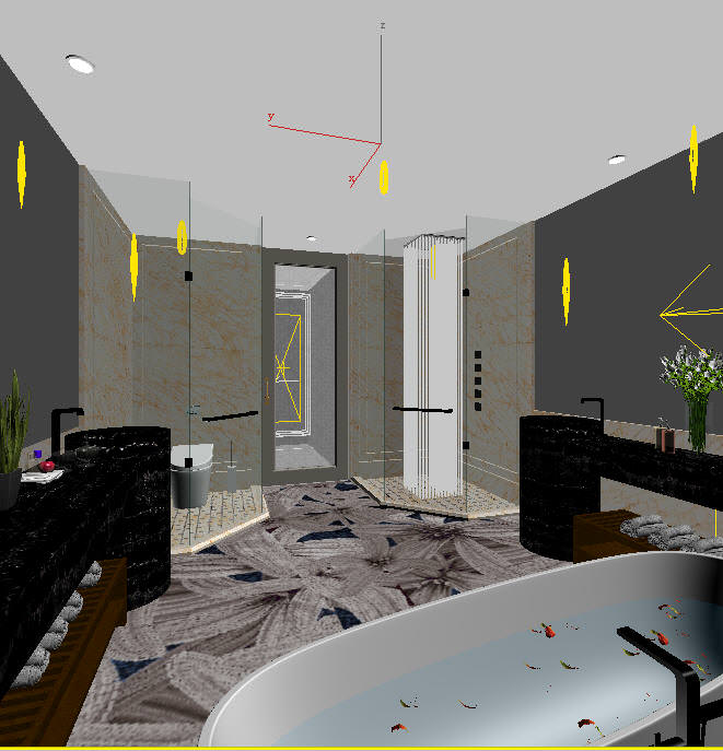 Modern design romantic bathroom for Bathroom design 3d model