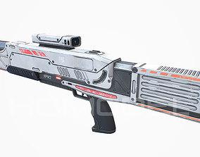 Medium Laser Gun PBR 3D asset