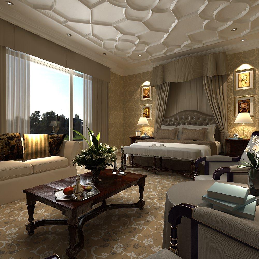 Modern design bedroom 3d model max for 3d decoration models