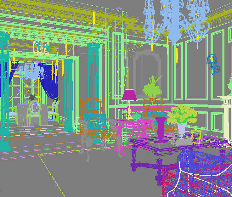 Luxury Living Room With Fancy Carpet 3d Model Max 2