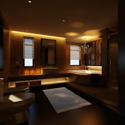 Modern bathroom with bathtub 3d model cgtrader for New model bathroom