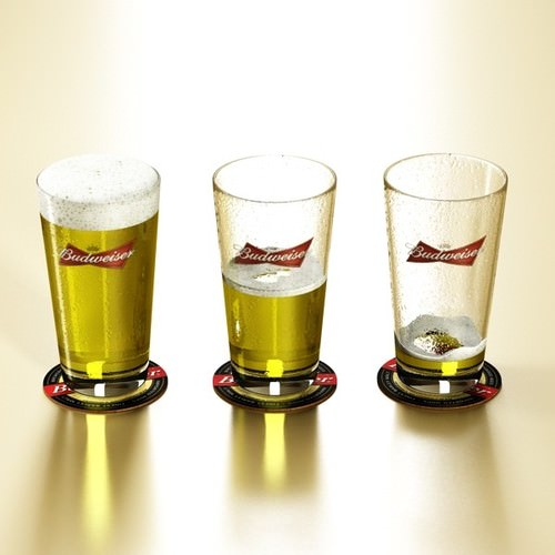Budweiser Beer Collection. 3D Model .max .obj .3ds .fbx