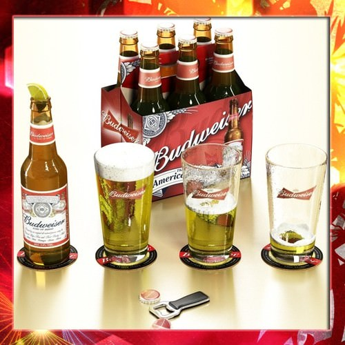 Budweiser Beer Collection3D model