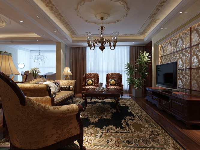 3d Modern Comfortable Living Room Cgtrader
