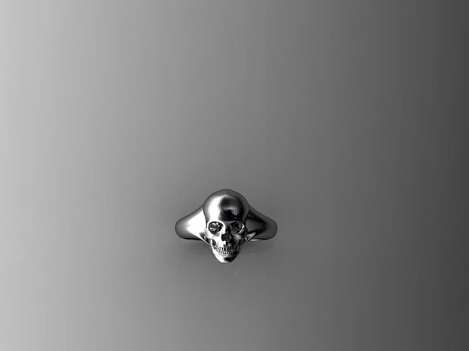 skull ring  3d model stl 1