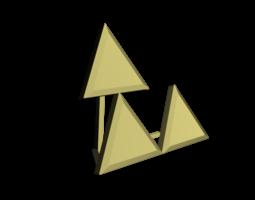 Triforce Meme 3D Model