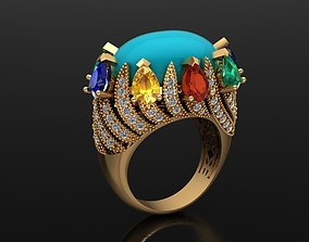 3D printable model MGold023r Beautiful Fancy Ring