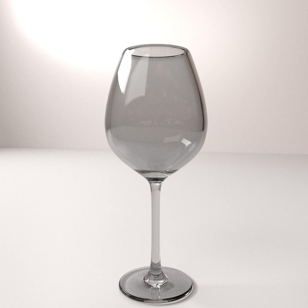 Wine Glass 3D Model .3ds .fbx .blend .dae