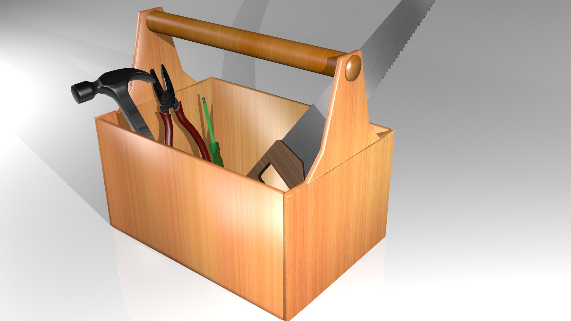 Tool Box 3d Model Blend
