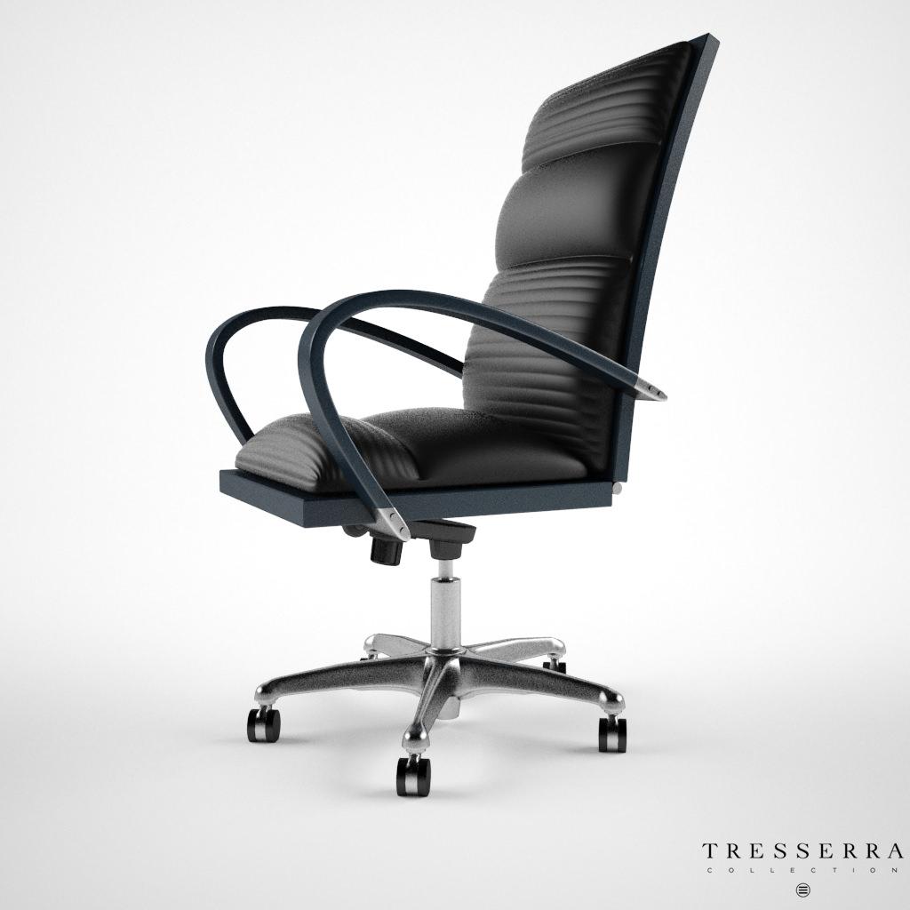 Astonishing Treserra Casablanca Desk Chair 3D Model Caraccident5 Cool Chair Designs And Ideas Caraccident5Info