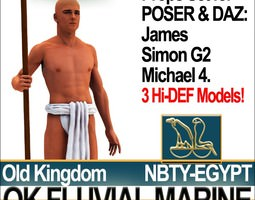 3d free ancient egypt ok fluvial marine props poser daz