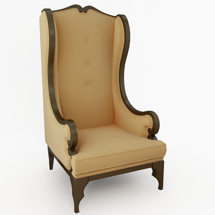 ... high back chair 3d model max 2 ...