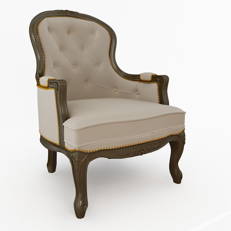 antique armchair 3d model max 1 ... - 3D Model Antique Armchair CGTrader