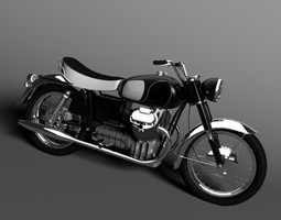 3D model Moto Guzzi 850 California 1969